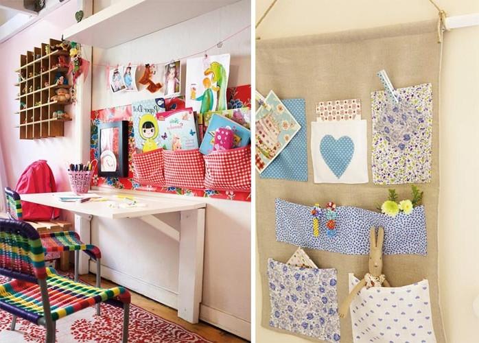 Идеи хранения детских вещей на стене
