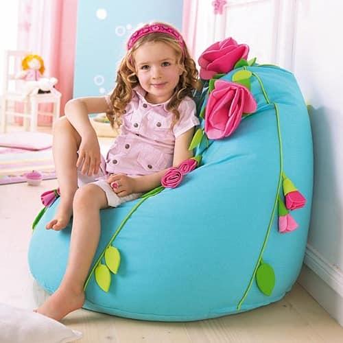 Кресло мешок в интерьере детской комнаты