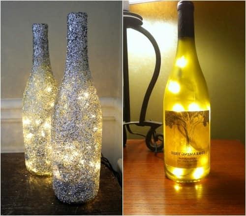Герлянда из стеклянных бутылок