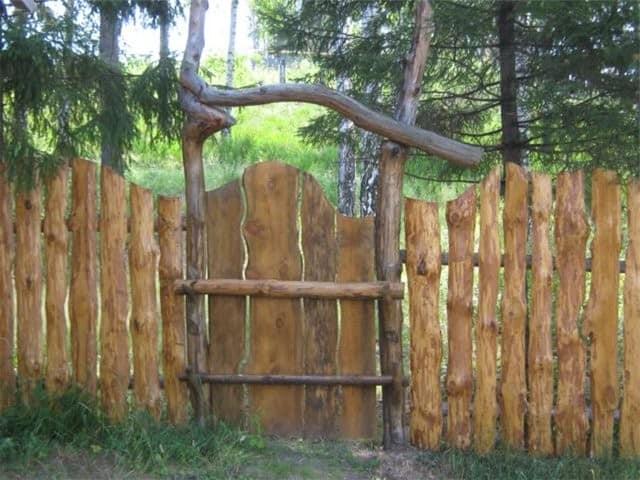 Экономичный забор для дачи