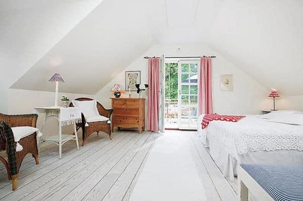 Интерьер лесного домика в скандинавском стиле
