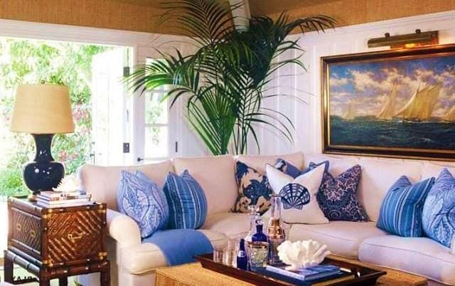 Морской стиль в летнем интерьере квартиры