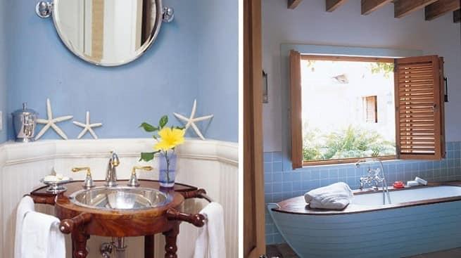 Летний интерьер в ванной комнате