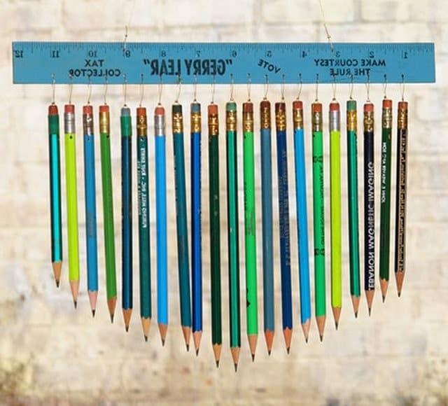Мызыка ветра из карандашей