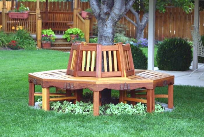 Круговая садовая скамейка