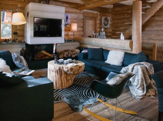 Декор интерьера в стиле шале