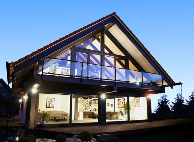 Экстерьер дома в стиле шале