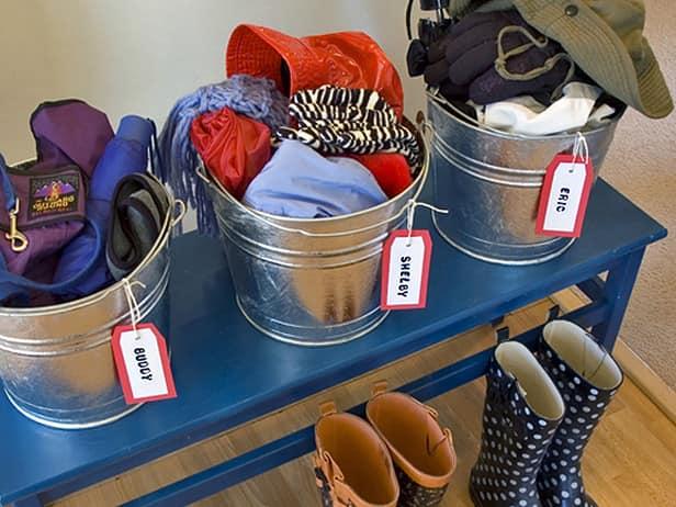 Ведра для хранения одежды