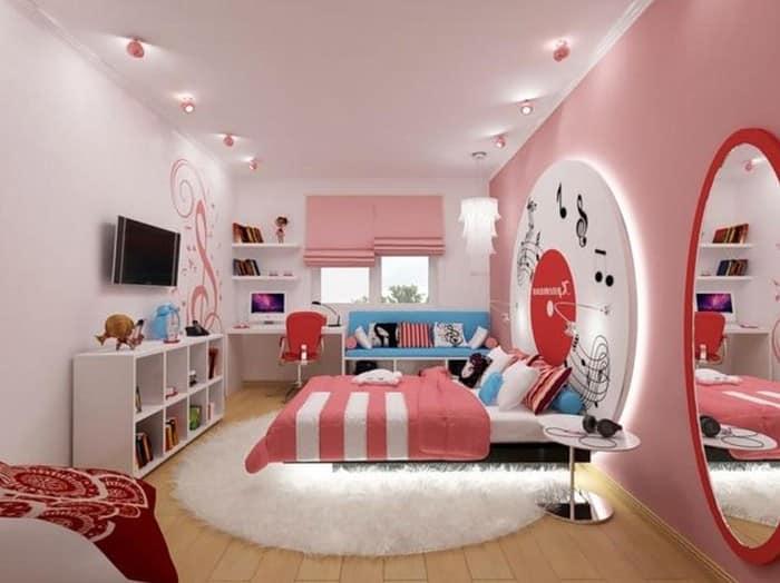 Элементы декора комнаты для девушки-подростка
