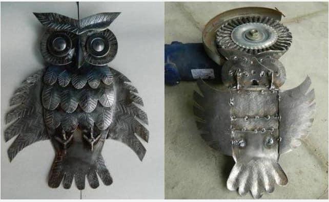 Процесс изготовления металлической совы