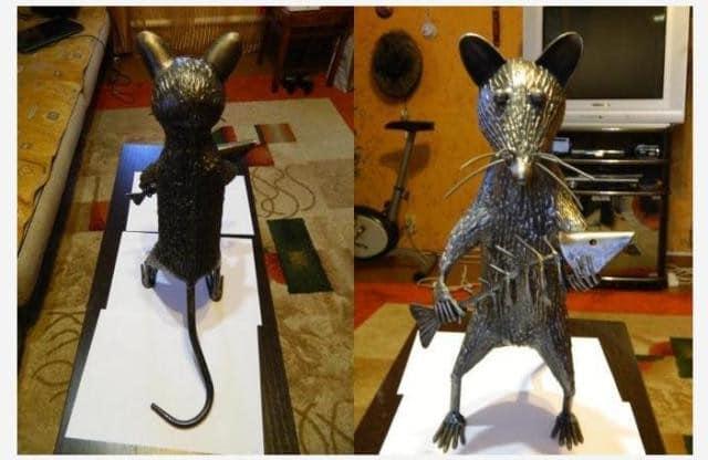 Готовая крыса из металла