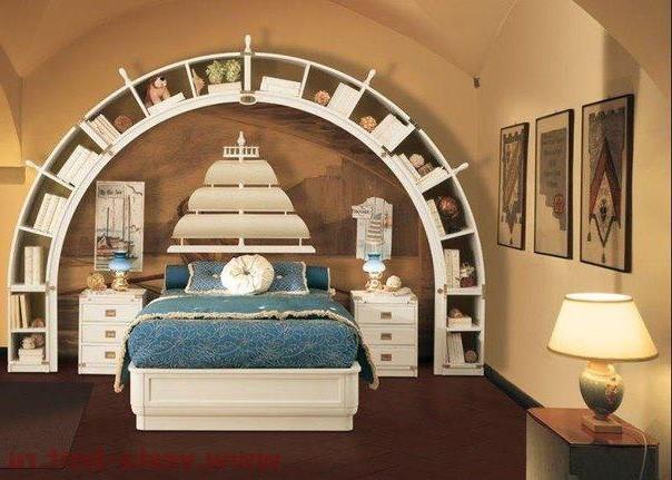 Комната для подростка юноши в морском стиле