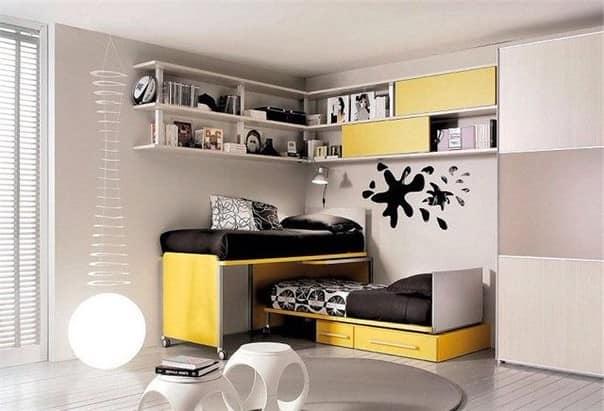 Комната для подростка юноши в стиле хай-тек