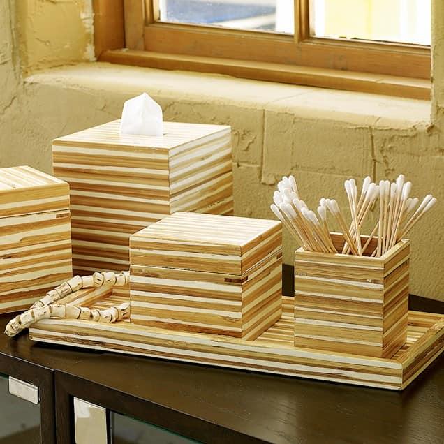 Аксессуары из бамбука в интерьере