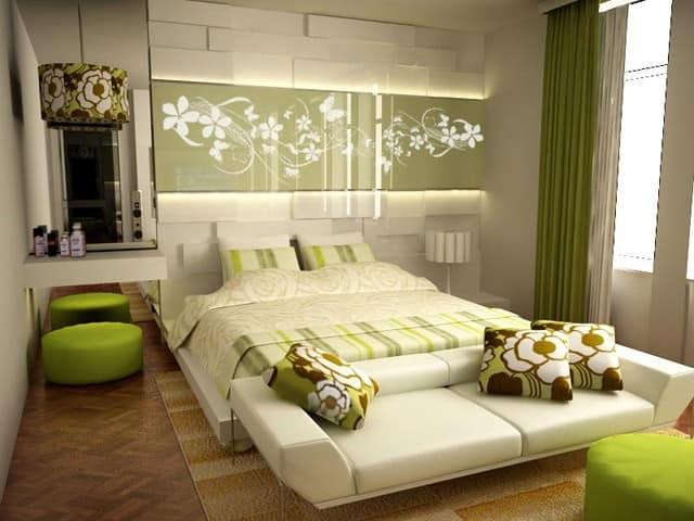Цветовая гамма и материалы для маленькой спальни