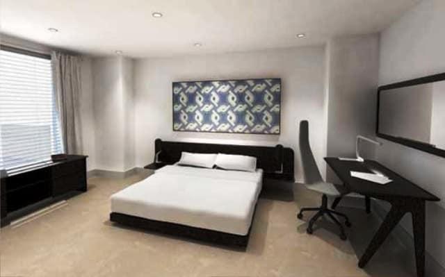 Интерьер маленькой спальни в стиле минимализм