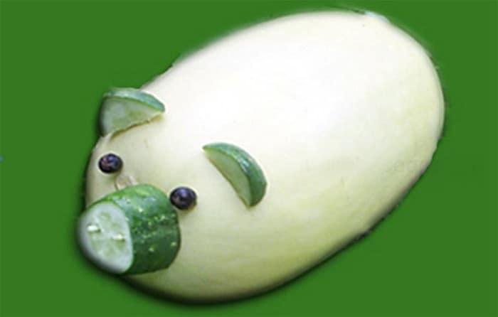 Поросенок из кабачка