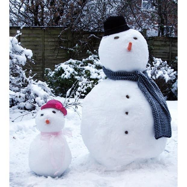 Оформление снеговика своими руками