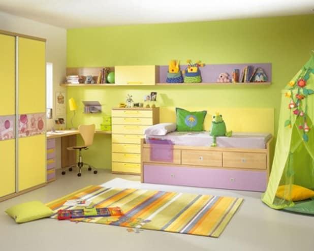 Сочетание цветов в интерьере детской комнаты фото