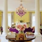 Сочетание желтого и фиолетового цвета в интерьерах (45 фото)