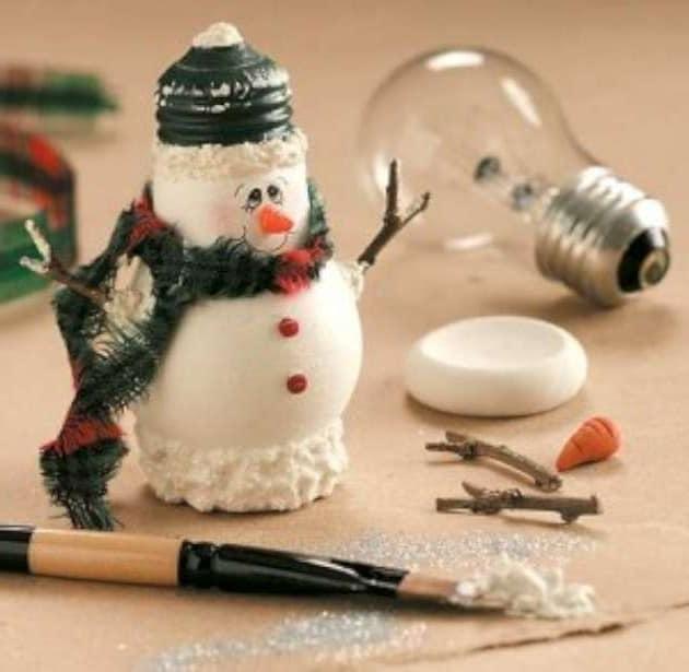 Как сделать снеговика на елку своими руками