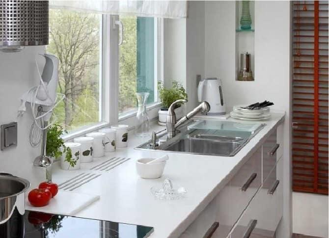 Картинки по запросу использование подоконника на кухне