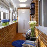 Маленький балкон в стиле лофт