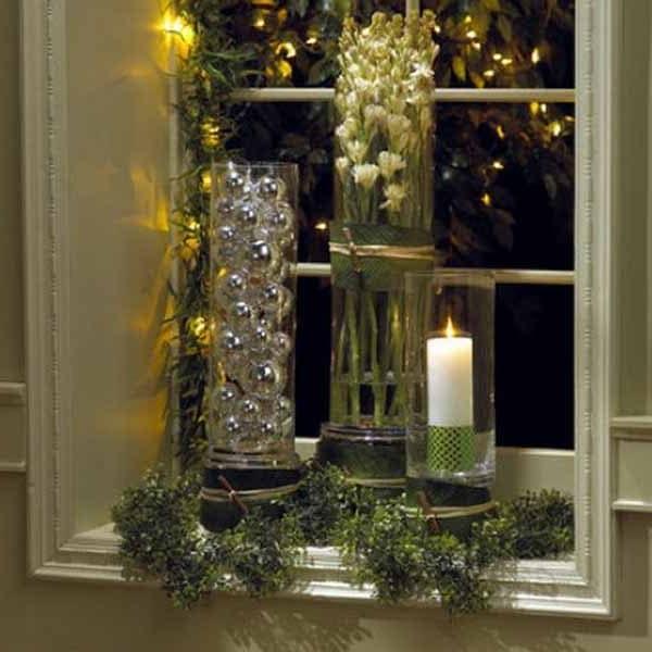 Свечи и гирлянды в зимнем декоре интерьера