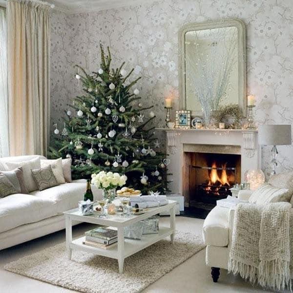 Белый цвет в зимнем интерьере