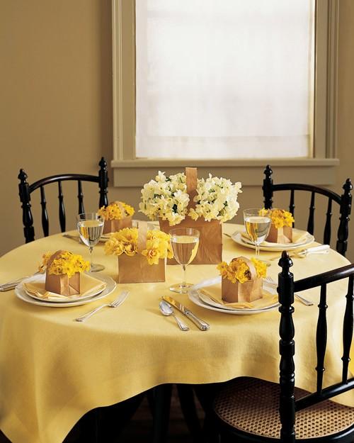 Скатерть для сервировки стола к завтраку