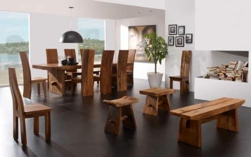 Деревянная мебель в оформлении современного стиля интерьера