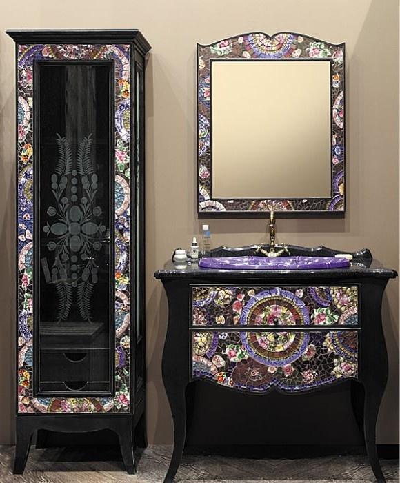 Инкрустация мебели мозаикой