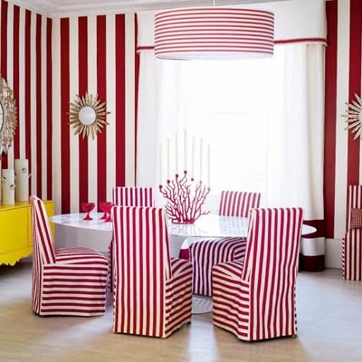 мебель и элементы декора с полосатым узором