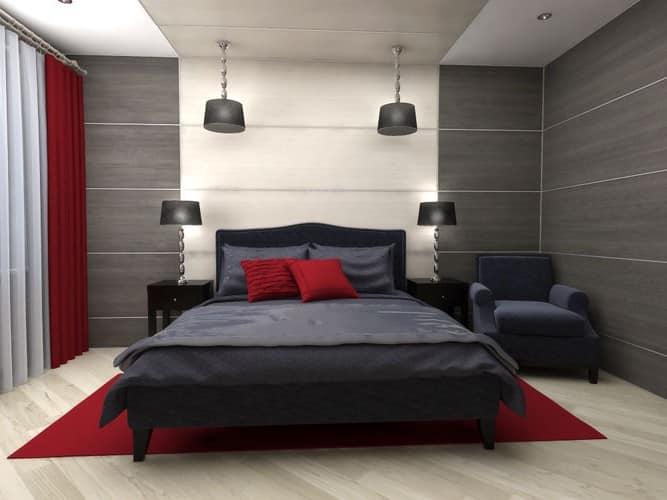 Стеновые панели над кроватью в спальне