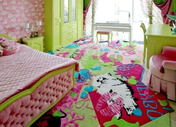 Ковер в интерьере детской комнаты