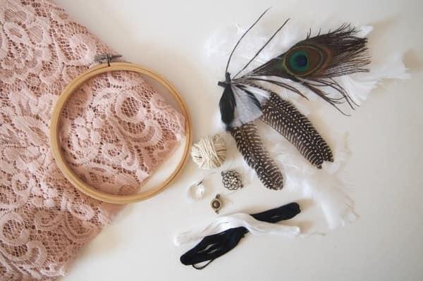 Необходимые материалы для изготовления ловца снов