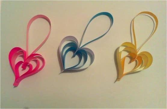 Сердечки для декора интерьера из бумаги