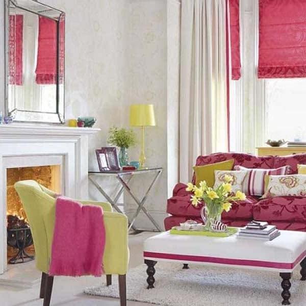 Цветовая гамма весеннего оформления интерьера