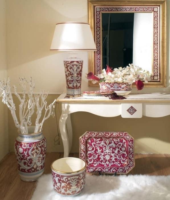 Напольные вазы в классическом интерьере