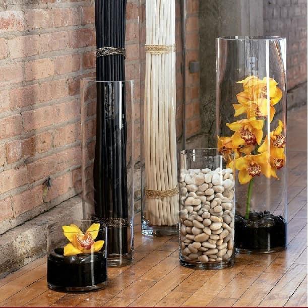 Идеи декора помещения при помощи напольных ваз