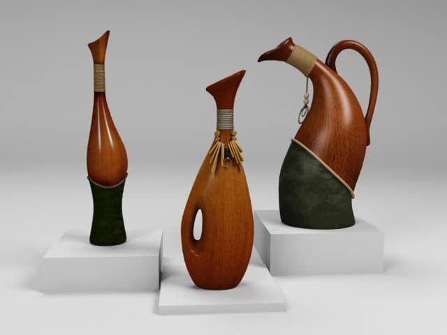 Напольные вазы в этническом стиле