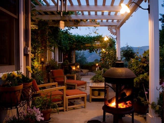 Освещение летней веранды