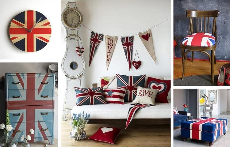 Британский флаг в интерьере: новые идеи