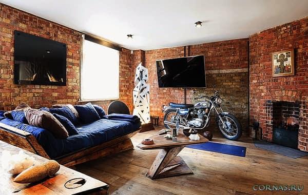Выбираем стиль для кирпичной стены в квартире