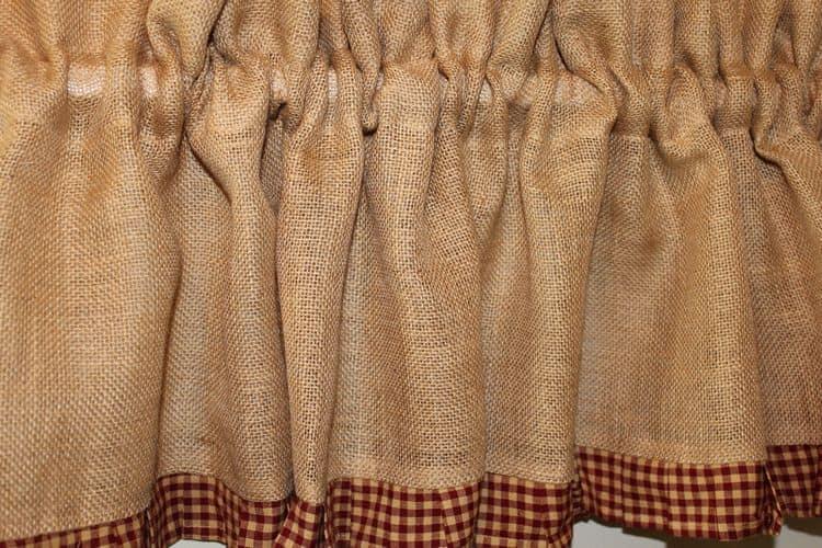 Шьем шторы из мешковины своими руками - Идейки