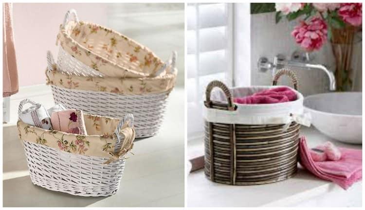 Ткань в корзинке - для декора и защиты