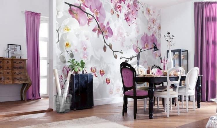 фотообои орхидея фото в интерьере