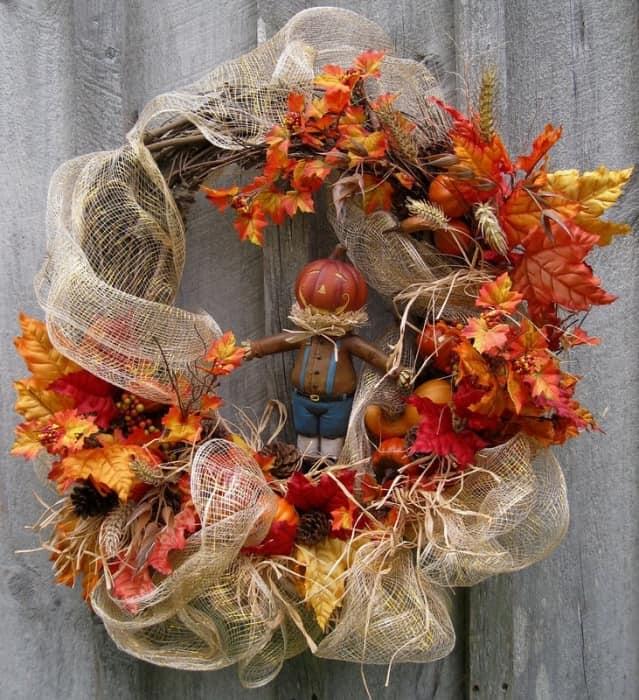 Осенний букет - венок