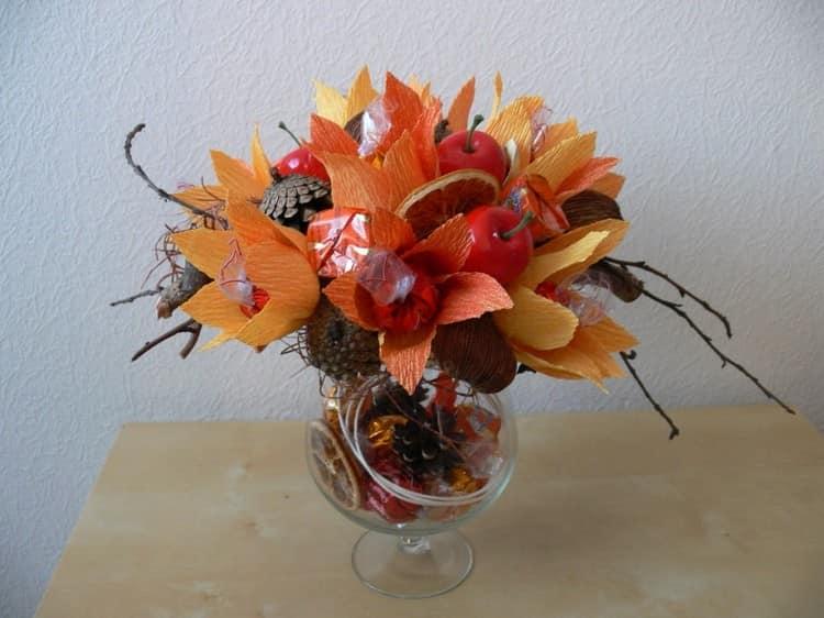 Осенний букет в бокале