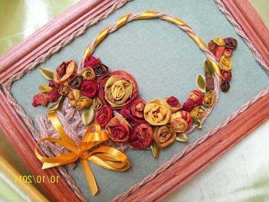 Осенние цветы в рамке